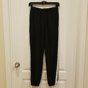 Black and white casual pants